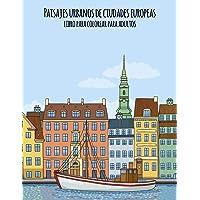 Paisajes urbanos de ciudades europeas libro para colorear