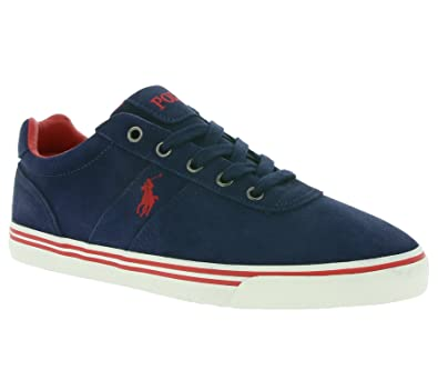 Polo Ralph Lauren Hanford Men s Real Leather Sneaker Blue A85 XZ4YQ XY4YQ  XW4R7, Size  949d0ac0c48