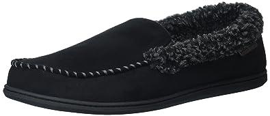 9ed07a16765859 Dearfoams Men s Wide Width Microfiber Suede Closed Back Moccasin Style  Slipper – Padded Slip-Ons
