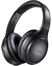 Noise Cancelling Headphones, Boltune Bluetooth 5.0 Wireless Over Ear Headset with Hi-Fi Deep Bass, 30 Hrs Playtime Bluetooth Headphones with CVC 8.0 Mic for Travel Work TV PC Cellphone