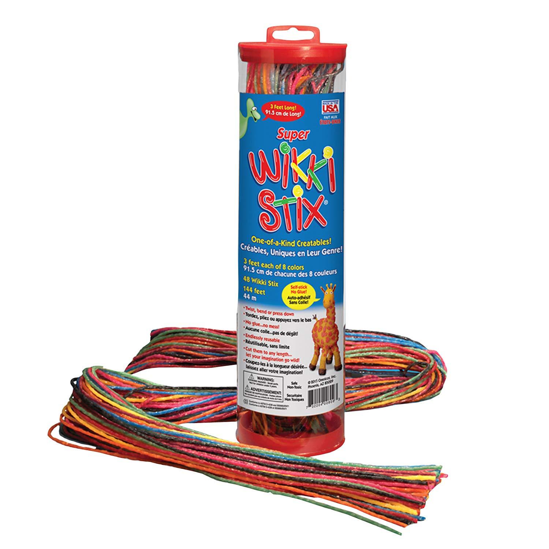 WikkiStix WKX809 Super 3 Long Pack of 48 Yarn//Food Grade Wax WIKKI STIX