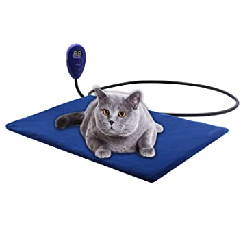 Pet Bed Warmer Aiicioo Pet Heating Pad for Dogs Cats Keep Your Pet ...