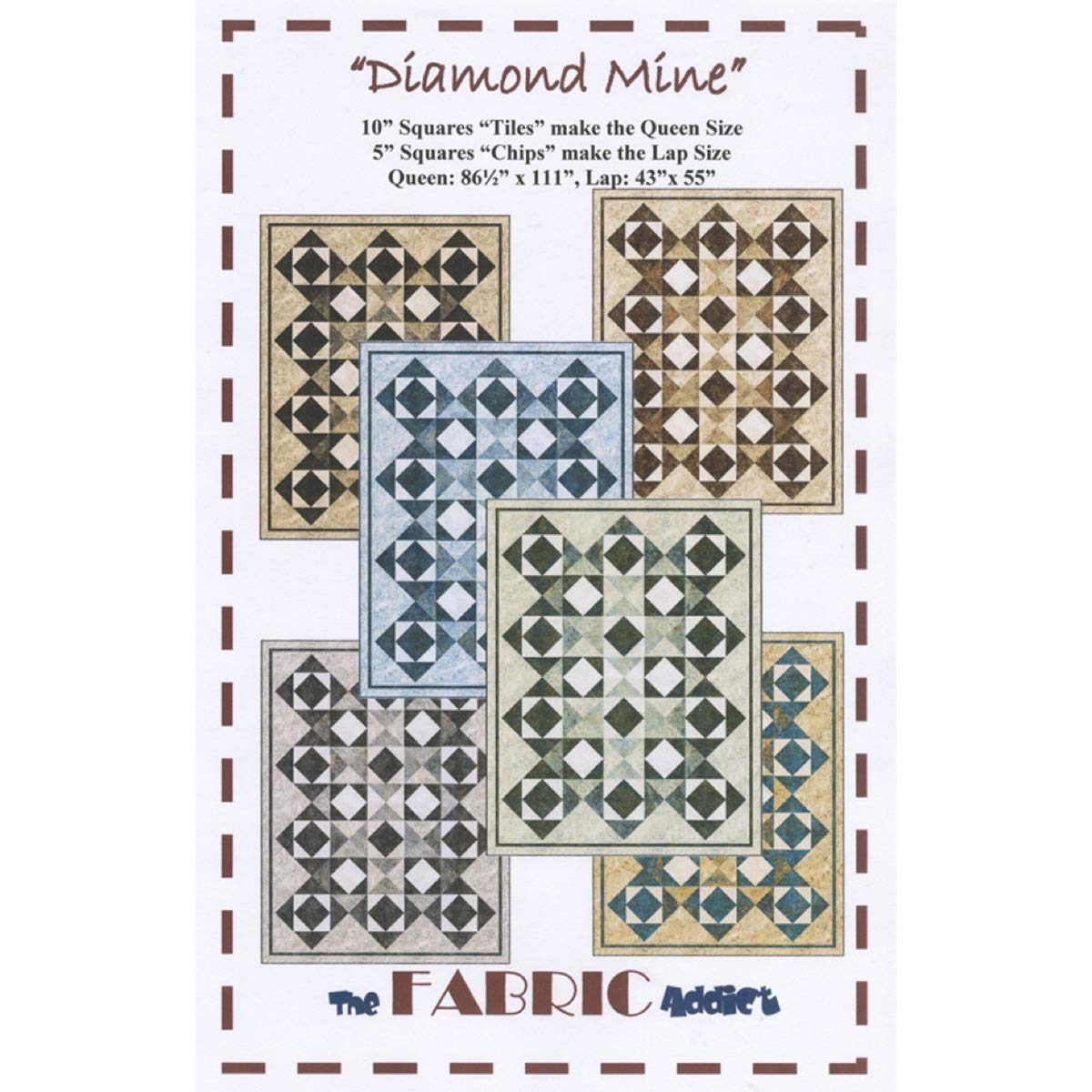 Diamond Mine Quilt Pattern by The Fabric Addict ik