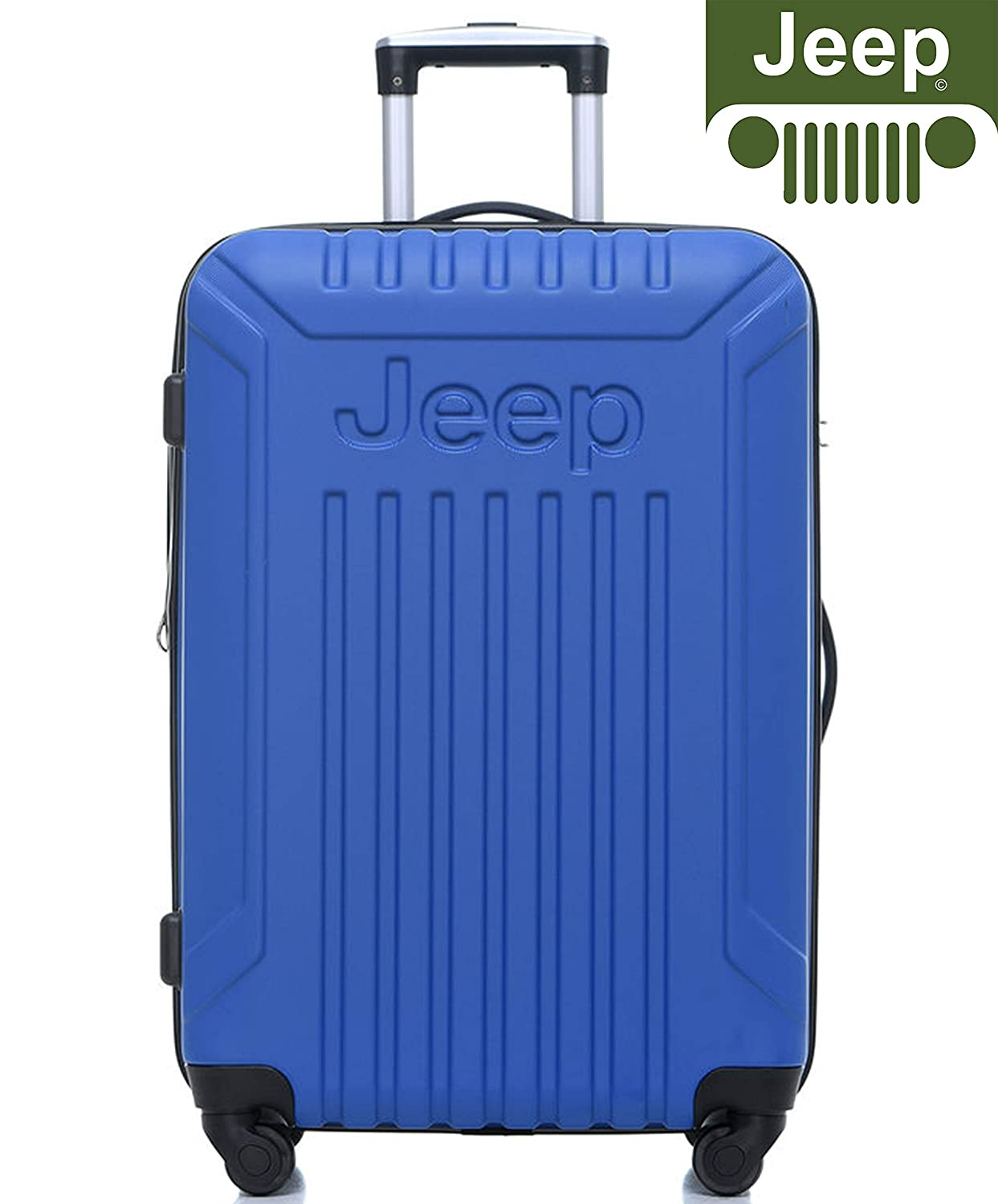 da3a59fb428 Jeep Luggage Missouri 2019 Hard Case 3 Piece Suitcase Travel Trolley  Tourist Bag with Spinner Wheels Luggage Sets (Black) (20
