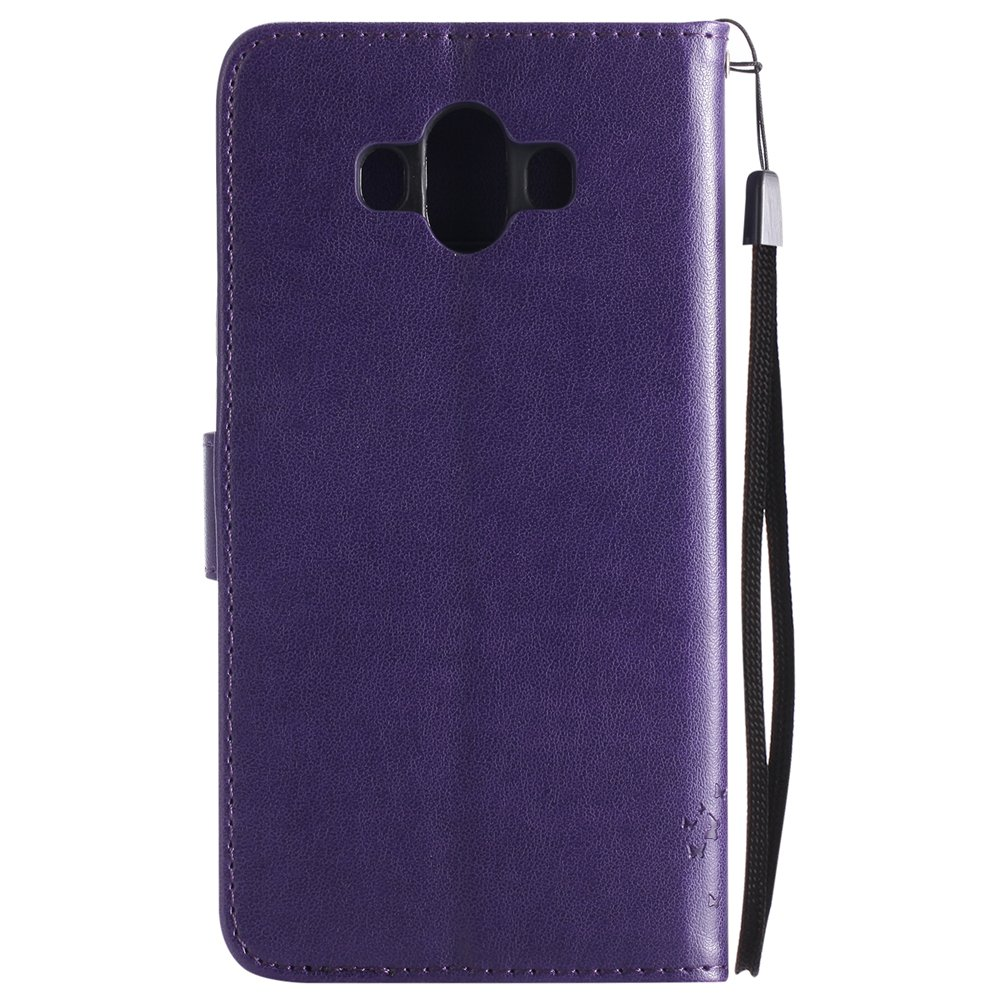 COTDINFOR Huawei Mate 10 Funda Mujer Chica Elegante Suave PU Cuero Flip Cuero Billetera Estuche C/árcasa Case Protectora para Huawei Mate 10 Purple Wishing Tree with Diamond KT.