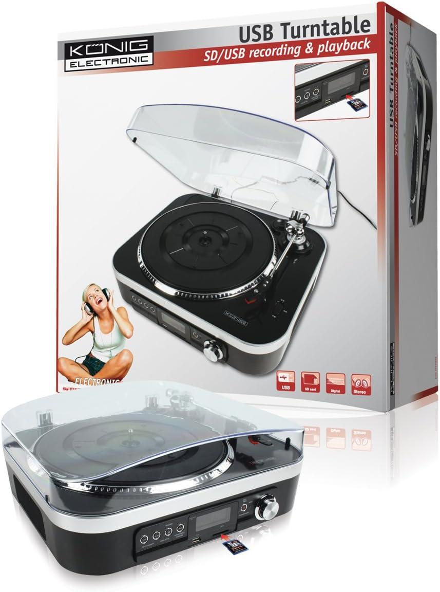 Konig Tocadiscos USB con altavoces: Amazon.es: Electrónica