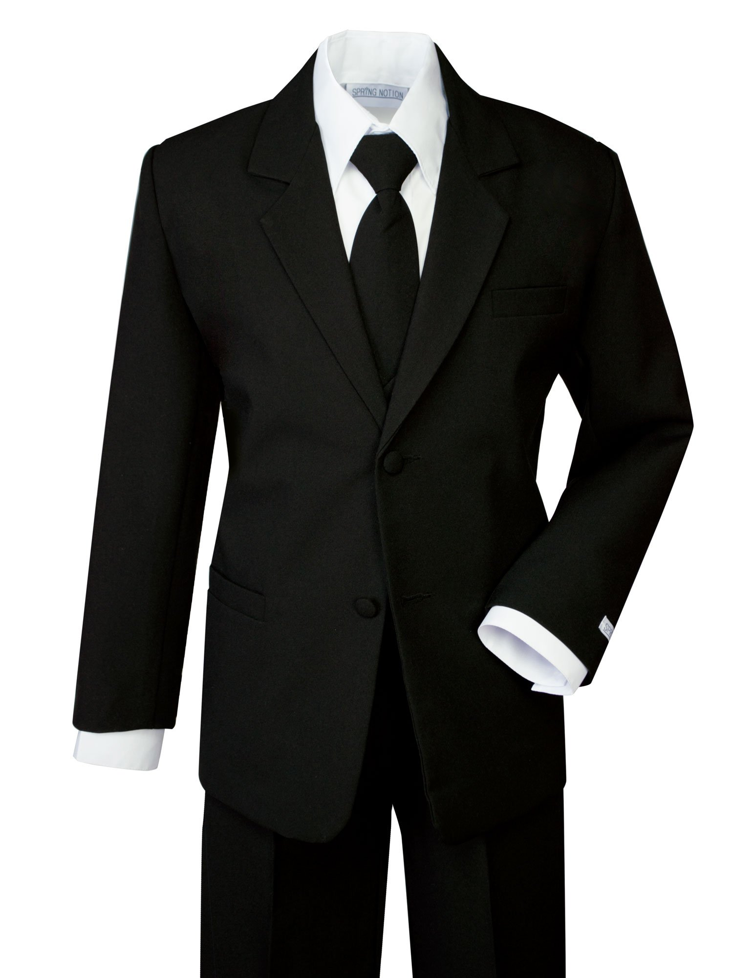 Spring Notion Boys' Formal Black Dress Suit Set 12 by Spring Notion (Image #1)
