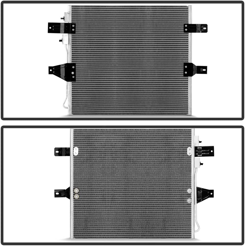 VIPMOTOZ Air Conditioning A//C Condenser Assembly Replacement For 2003-2006 Dodge RAM 2500 3500 5.9L Diesel Engine