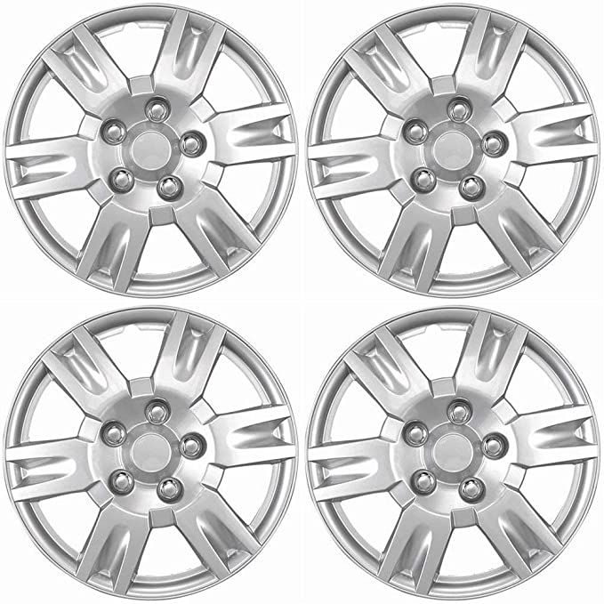 16 inch Hubcaps Best for 2013-2019 Nissan Altima - (Set of 4) Wheel Covers 16in Hub Caps Silver Rim Cover - Car Accessories for 16 inch Wheels - Snap ...