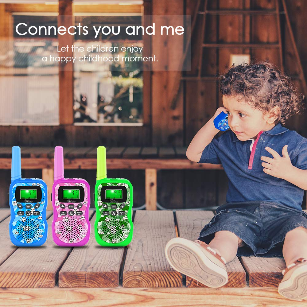 Walkie Talkies for Kids, 3 Pack 22 Channels 2 Way Radio Outside Toy with Backlit LCD Display ,3 Miles Range Kids Walkie Talkies for Outside Adventures, Camping, Hiking by Huaker (Image #5)