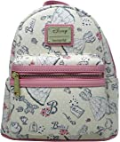 Loungefly x Disney Beauty and the Beast Belle Pink Allover-Print Mini Backpack