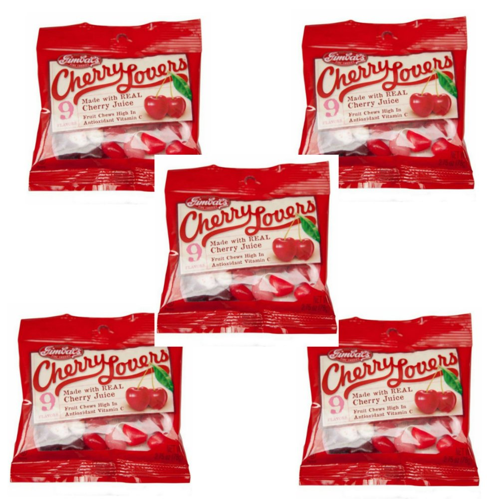 Gimbal's Gourmet Candies - 5 Pack - Cherry Lover's - 9 Cherry Flavors - 2.75 oz Bags