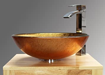 home supplies kit de lavabo para bao cristal incluye lavabo grifo