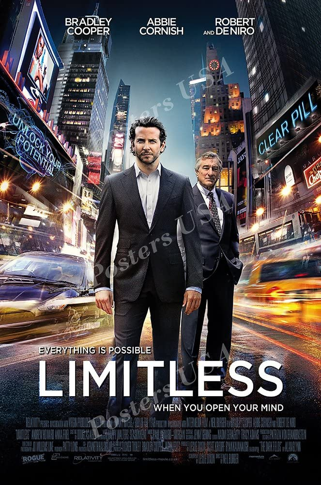 Ship from USA - Limitless Movie Poster Glossy Finish Made in USA - MOV464 (24