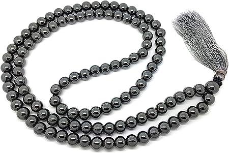 siddhratantm hematita Japa Mala 108 Cuentas Plus 1 más grande gurú Bead, con Real gemas, para uso en meditación o como un collar: Amazon.es: Hogar
