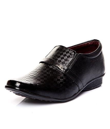 Trilokani Black Formal Shoes for Boys cheap sale genuine 7fljhQs1z