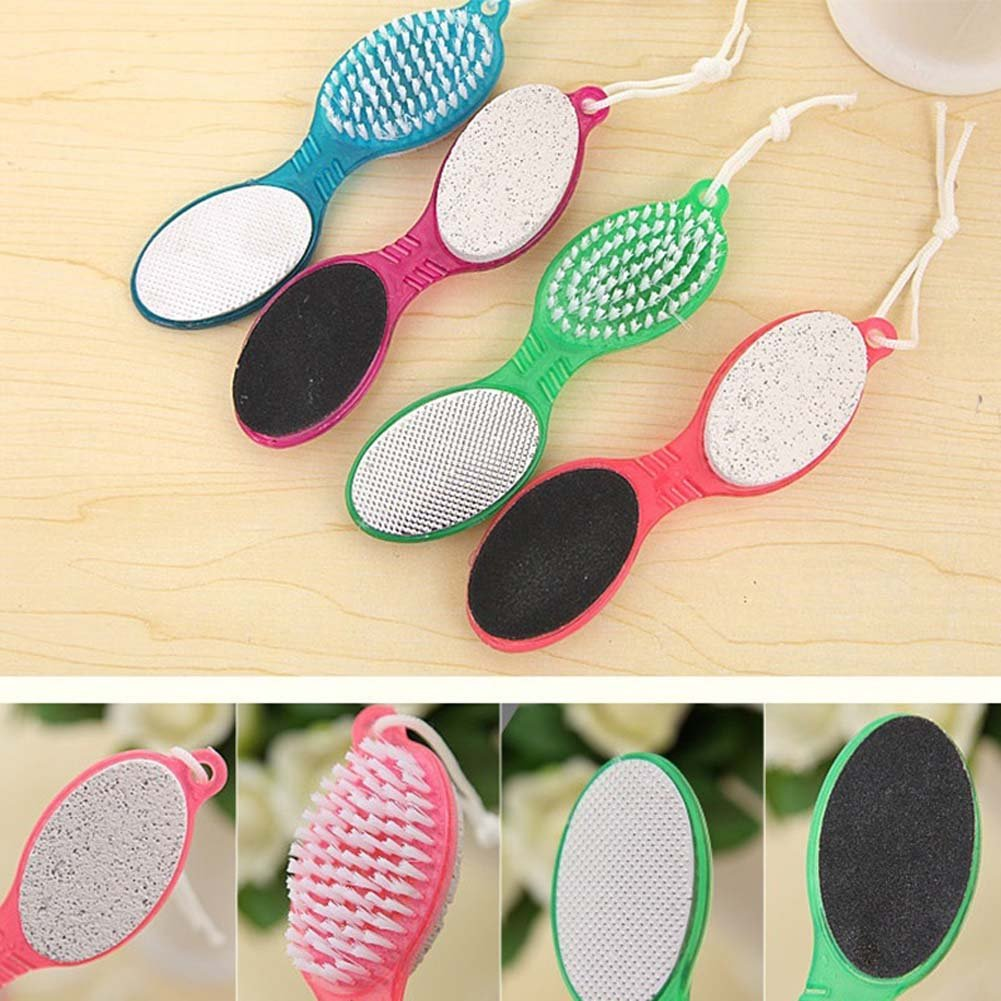 Multifunction 4In1 Foot Pumice Exfoliating Dead Skin Remover Brush Pedicure Grinding Foot Care Tool Massager Relieve Stress QJHP