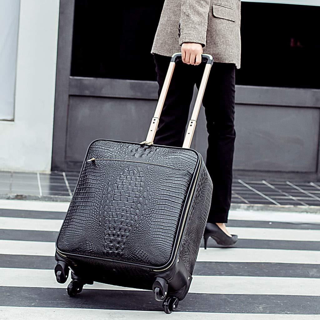 トロリーケース- ユニバーサルホイールビジネストロリーケース断面16インチ、学生大容量スーツケーススーツケース20インチ男性と女性 (Color : Black, Size : 20in) B07VFB44RZ Black 20in