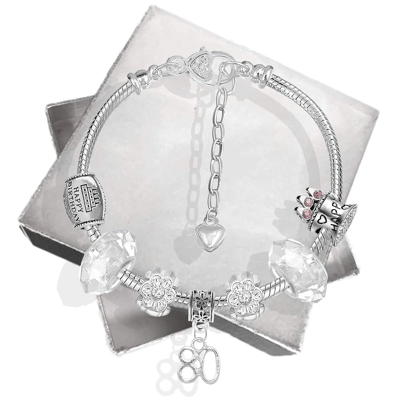 pour filles Bracelet /à breloques et bo/îte /à bijoux pour carte danniversaire comme cadeaux du 16e anniversaire