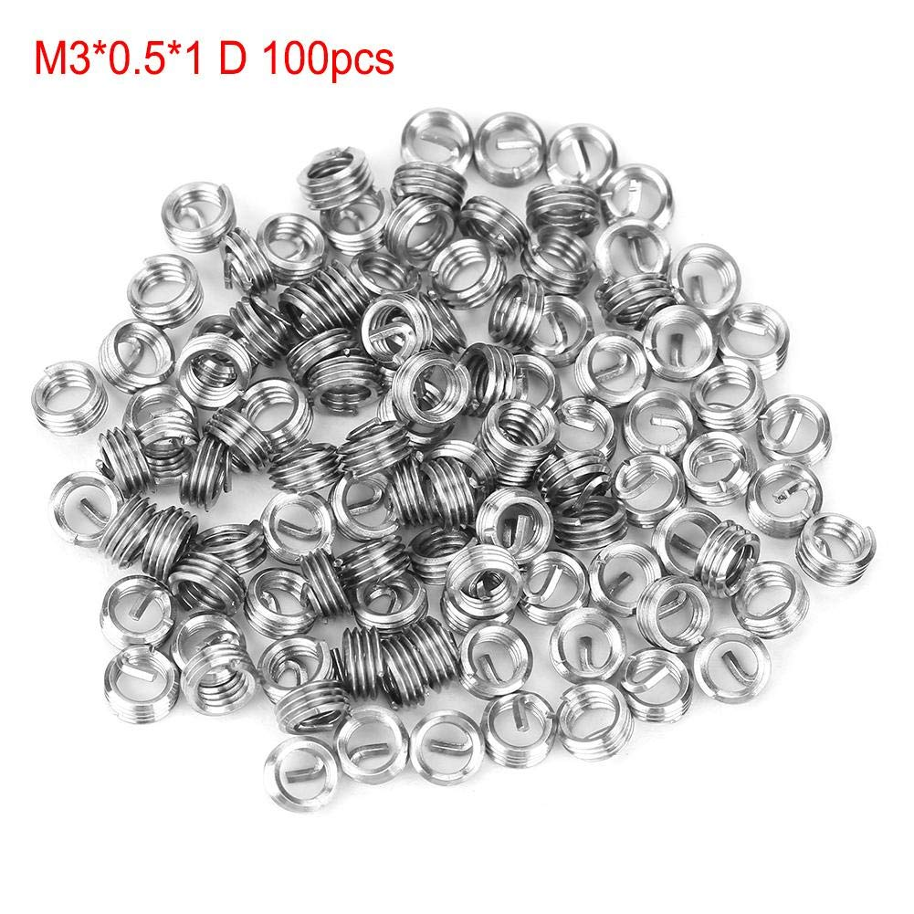 Thread Repair Insert,100pcs Stainless Steel Coiled Wire Helical Screw Thread Insert M30.51D