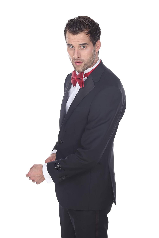 Modern Fit Barutti Mens Tuxedo Notch Lapel Black