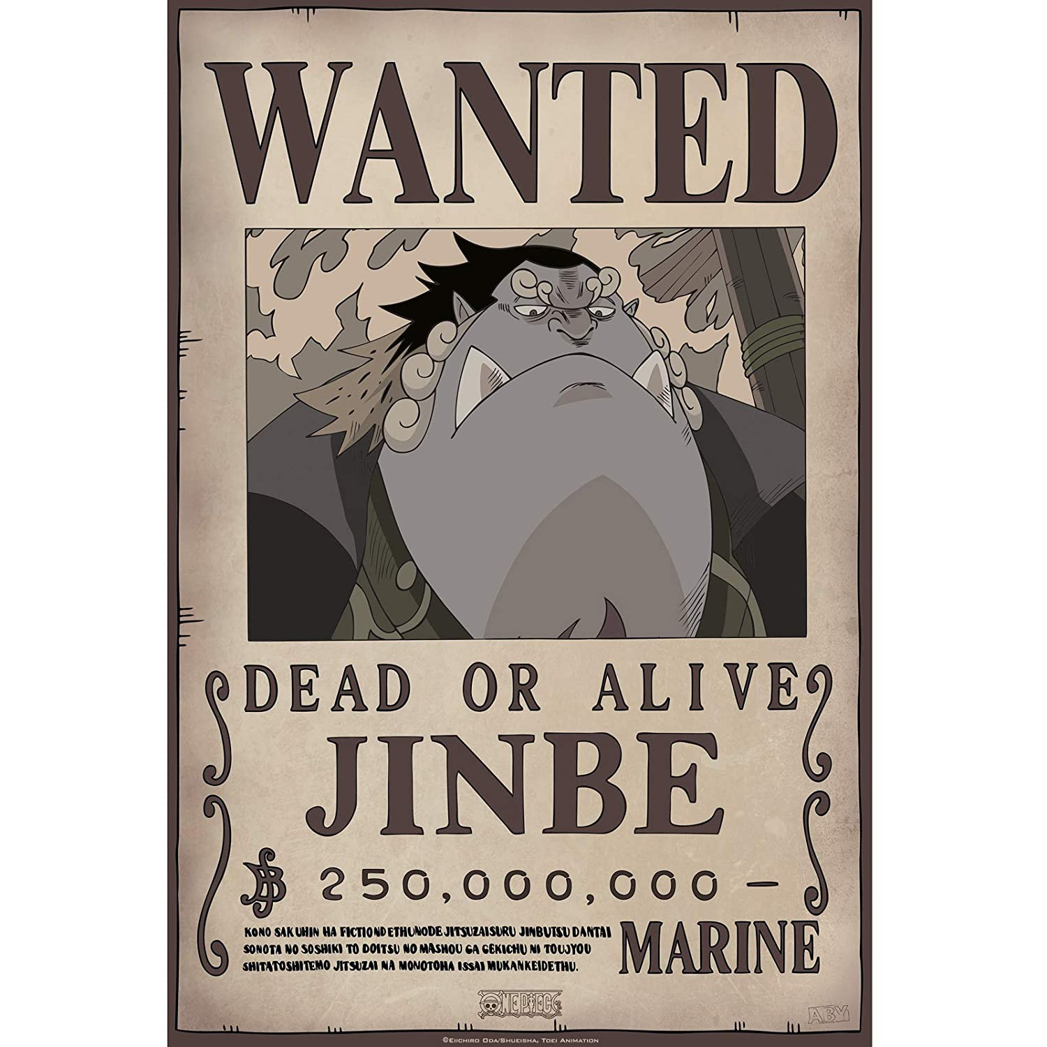 ABYstyle - One Piece - Poster - Wanted Jinbe (52 x 38 ...