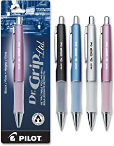 Pilot Dr. Grip Limited Refillable & Retractable Gel Ink Rolling Ball Pen, Fine Point, Assorted Barrel, Black Ink, Single Pen (36274)