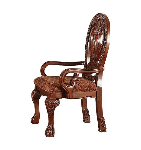 Amazon.com: Acme Muebles Quinlan Brazo – Juego de 2 sillas ...