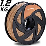 3D MARS Wood-Infused PLA 1.75mm ,3D Printing Filament,3D Printer Filament 1.75mm PLA,Dimensional Accuracy +/- 0.05mm,1.2kg Spool,1.75 mm PLA 3D Filament for Most 3D Printer & 3D Printing Pen