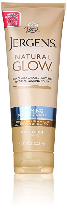Jergens Natural Glow + Firming Moisturizer, Fair to Medium Skin Tones, 7.5 Ounce