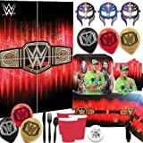 Ultimate WWE Smash MEGA Wrestling Birthday Party Supplies Pack For 16 Guests With John Cena Plates, Cups, Napkin, Cutlery, Ta