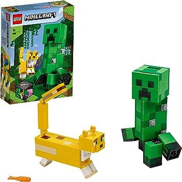 LEGO Minecraft - BigFig: Creeper y Ocelote, Juguete de Construcción Inspirado en el Videojuego, Incluye Figuras de los Personajes, Recomendado a Partir de 7 Años (21156): Amazon.es: Juguetes y juegos