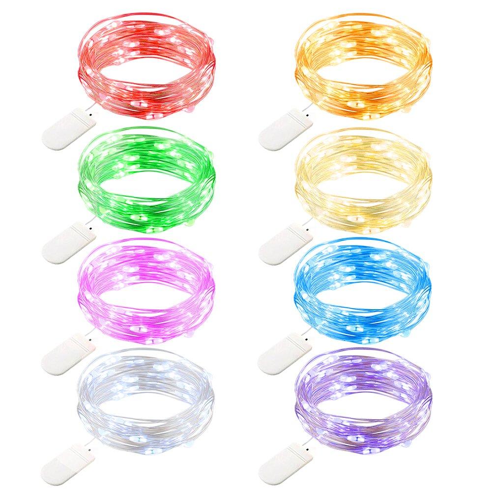 8 Tiras De Luces Led 2 Mertros Cada Una, Multicolores (xmp)