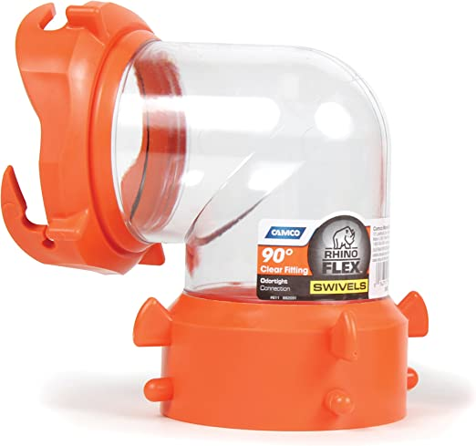 Amazon Com Camco 39857 Rhinoflex Clear 90 Degree Sewer Hose Swivel Fitting Automotive