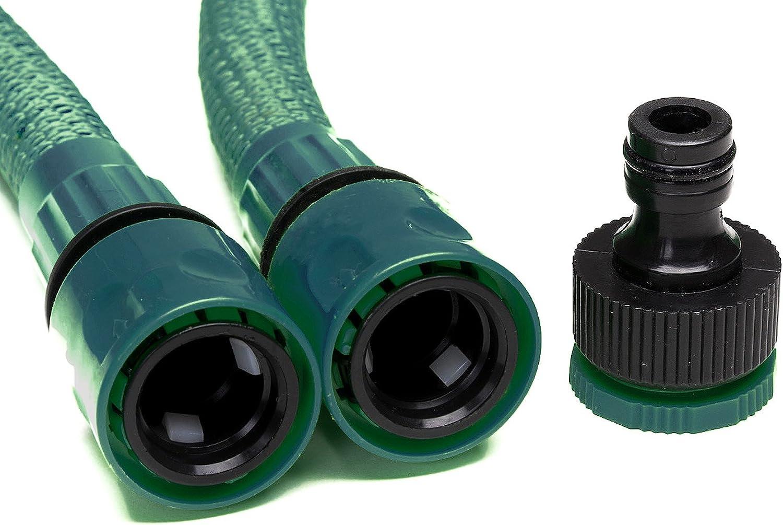 Tuyaux deau flexible avec adaptateur Somera Tuyau darrosage extensible avec pistolet de jardin