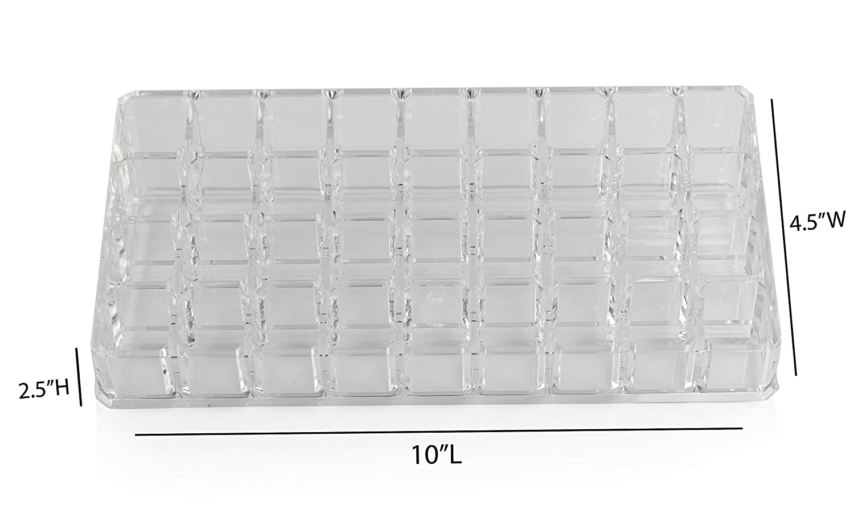 Storage Container for Lip Products Compartmentalized Box ARAD Lipstick Organizer