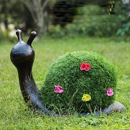 Chengzuoqing Estatua del Jardín Césped del césped del jardín del Paisaje Decoración Animal Caracol Que se reúne la Escultura de Resina de césped Artificial para la Decoración del Jardín: Amazon.es: Hogar