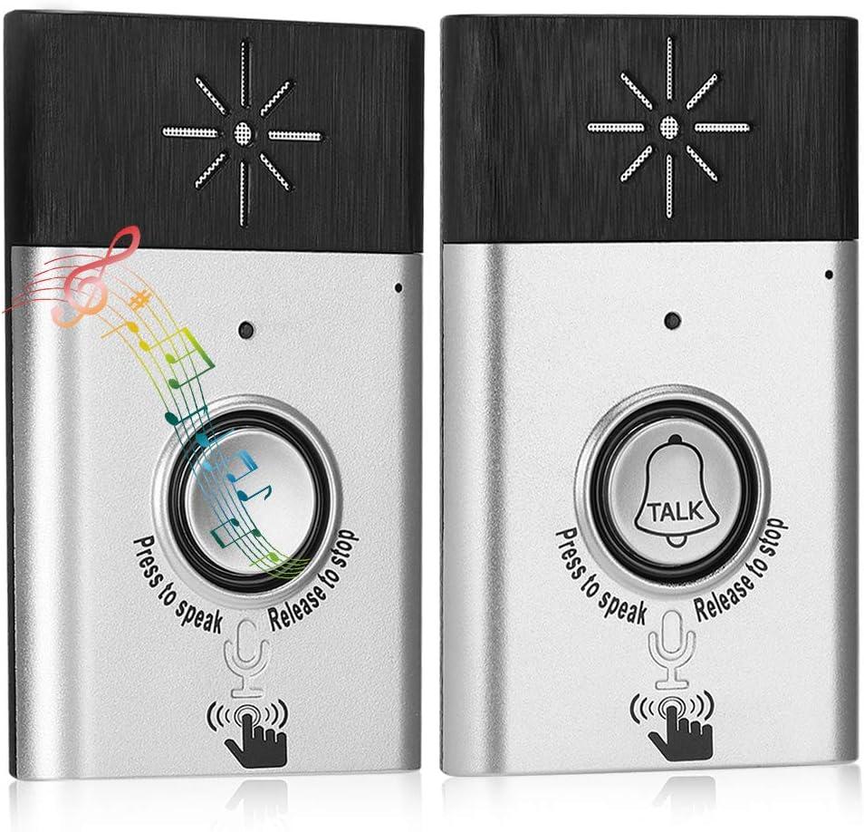 Two-Way Voice intercom Doorbell Wireless Voice Intercom Doorbells Home Doorbell Intercom Kit LED Indoor Outdoor Interphone System HomeImprovement Security Electronic