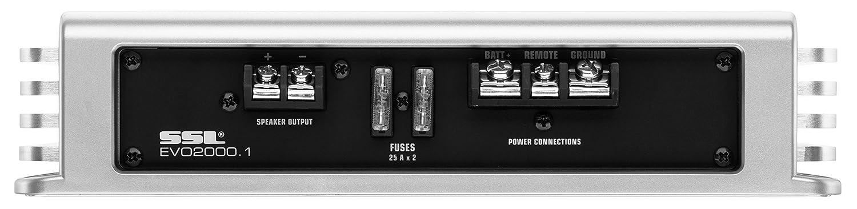 Sound Storm EVO5000.1 EVO 5000 Watt 1 Ohm Stable Class D Monoblock Car Amplifier with Remote Subwoofer Control Sound Storm Laboratories