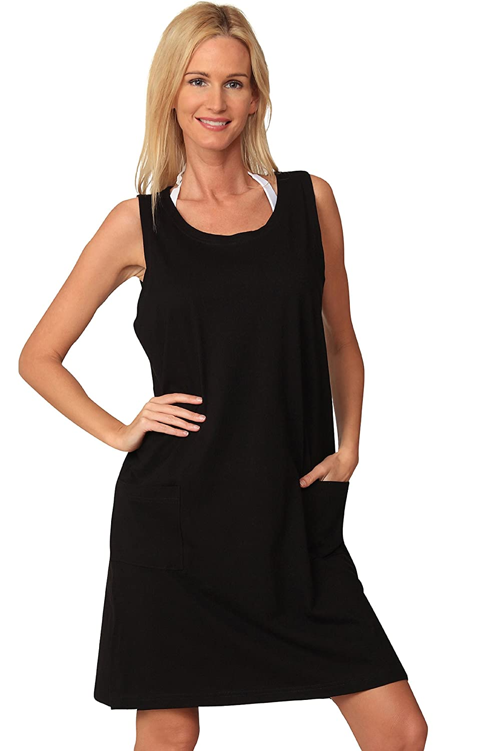 b3139624f6 Ingear Cotton Dress Beach Casual Tank Summer Fashion White Cover Up Plus  Size: Amazon.ca: Clothing & Accessories