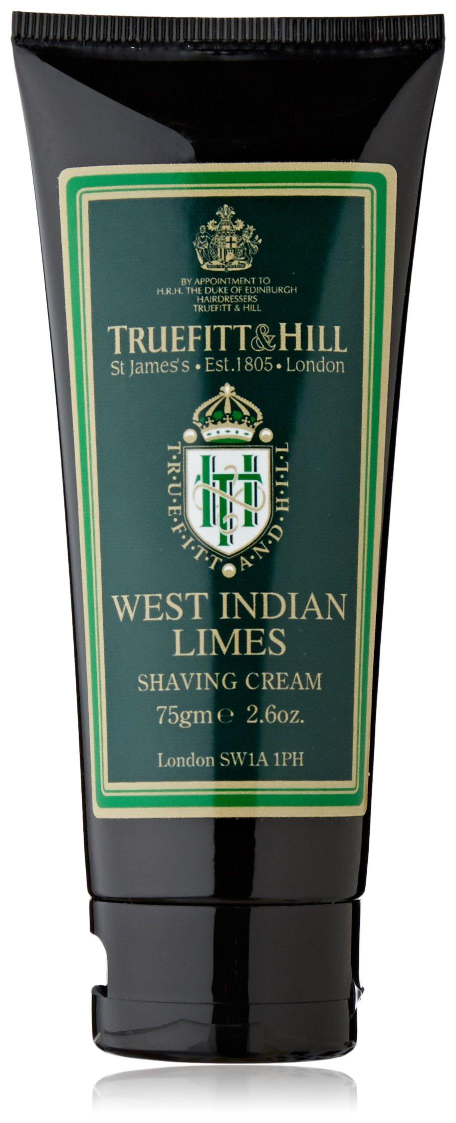 Truefitt & Hill West Indian Limes Shaving Cream Travel Tube (2.6 oz)