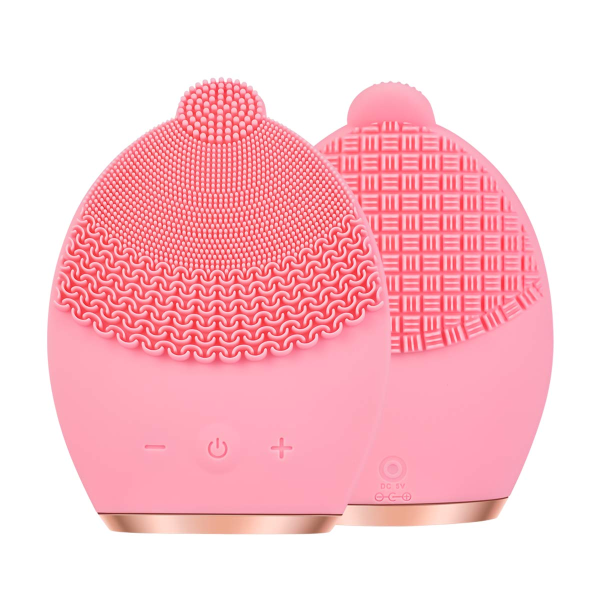 Sonic Facial Cleansing Brush, Rechargeable Silicone Face Brush - Face Massager - Exfoliate Smooth Skin for a Radiant Clear Complexion by CNAIER