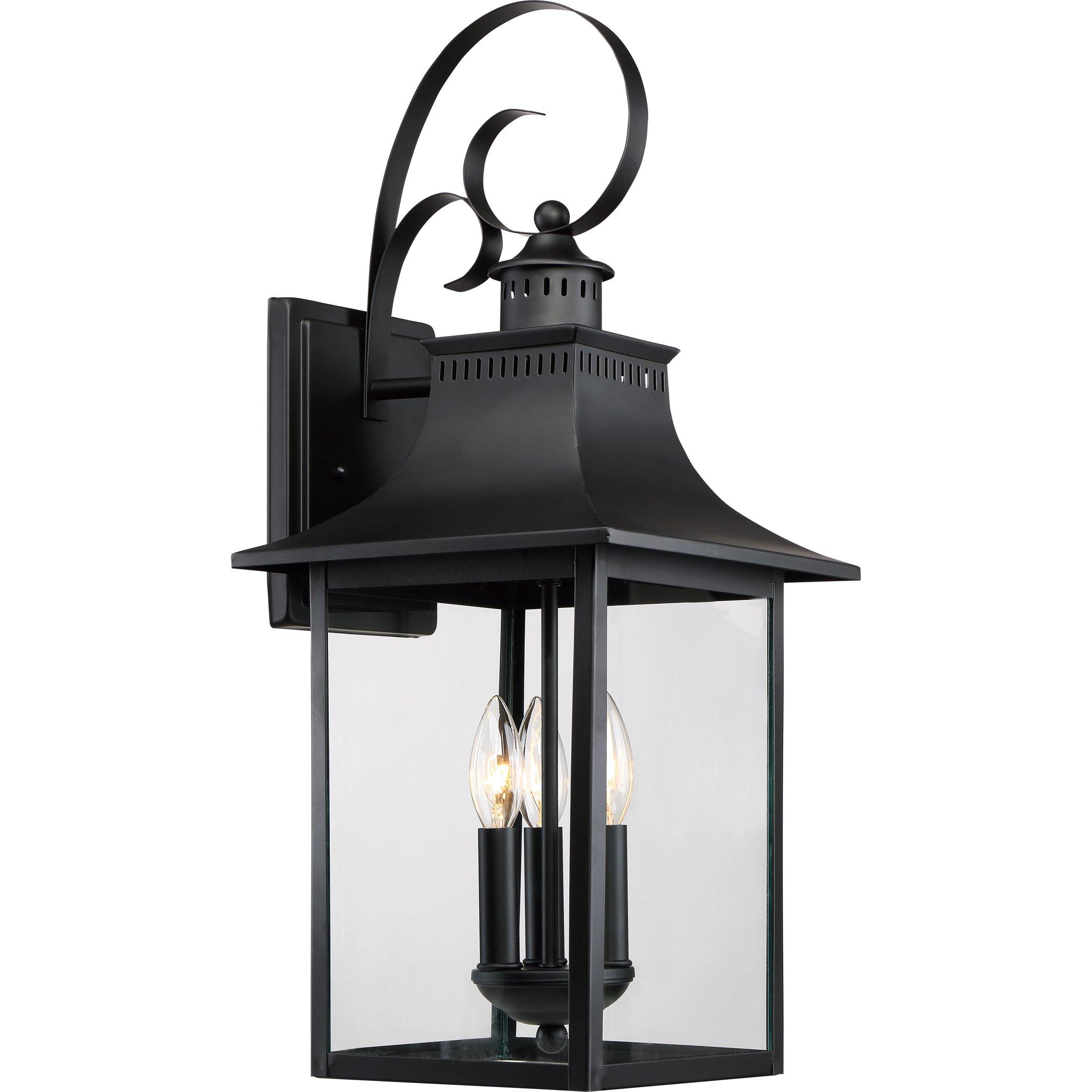 Quoizel CCR8410K Outdoor Chancellor Lantern, Large, Mystic Black
