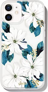 Sonix Delilah Flower Case for iPhone 12 / 12Pro [10ft Drop Tested] Antimicrobial Women's Protective White Floral Clear Cover for Apple iPhone 12, iPhone 12 Pro