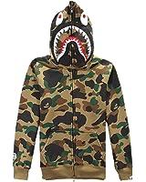 ETASSO Herren Pullover Camouflage Hoodie Kapuzenpullover Unisex Kapuzen-Sweatshirt