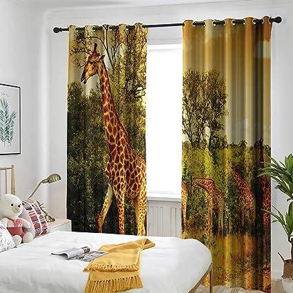 Amazoncom Giraffe Wildlife African Safari Decor Grommet