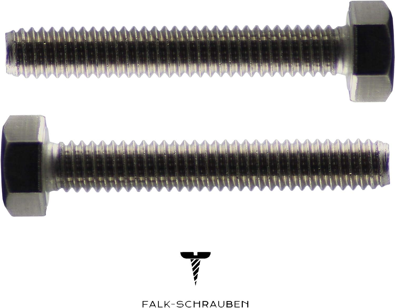Edelstahl A2 10 St/ück Sechskantschrauben M12 x 40 DIN 933 Maschinenschrauben Falk-Schrauben Gewindeschrauben