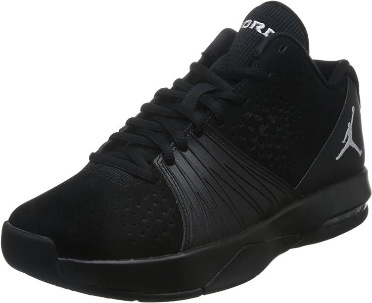 16e122efe89f0f Nike Mens Jordan 5 AM Basketball Shoe Black White 9.5