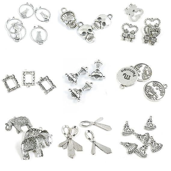 34 unidades de abalorios para hacer joyas, para muñeca, niña ...