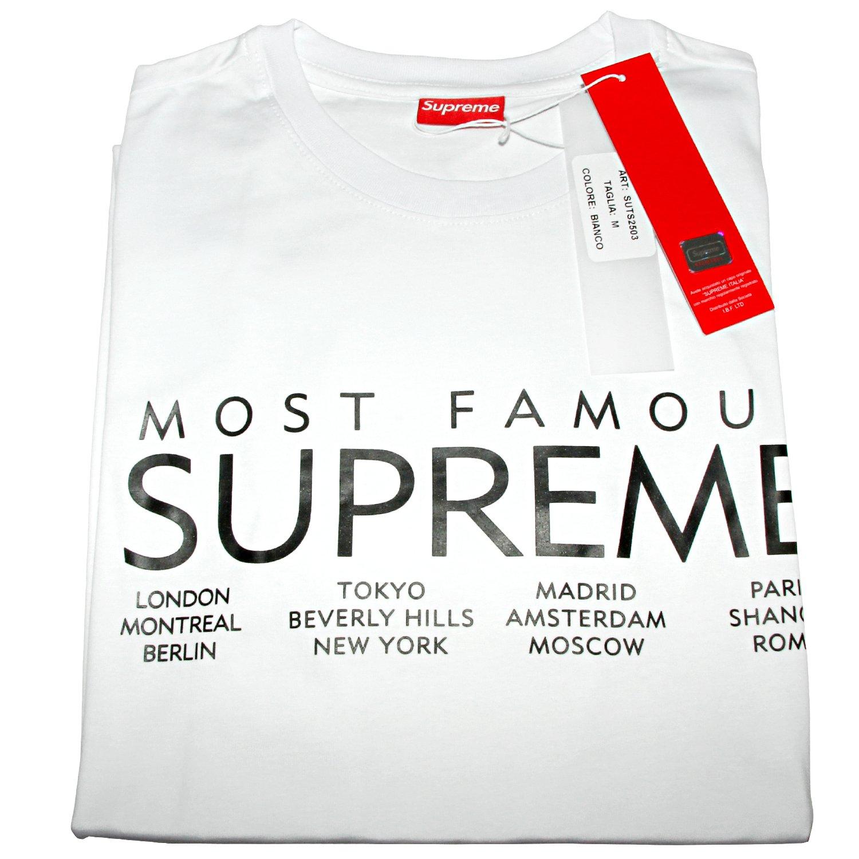 e9ff1157d53c Supreme Italy Herren T Shirt Box Logo London Tokio Madrid Paris Streetwear  Dope weiß Schwarz Rot: Amazon.de: Bekleidung
